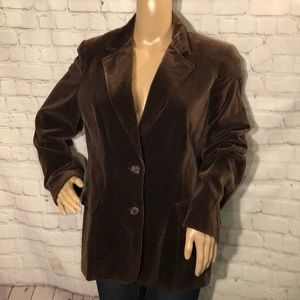 Vintage Koret of CA Brown Velvet Blazer 1970s